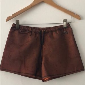 Fendi shorts- black mesh over orange size 42